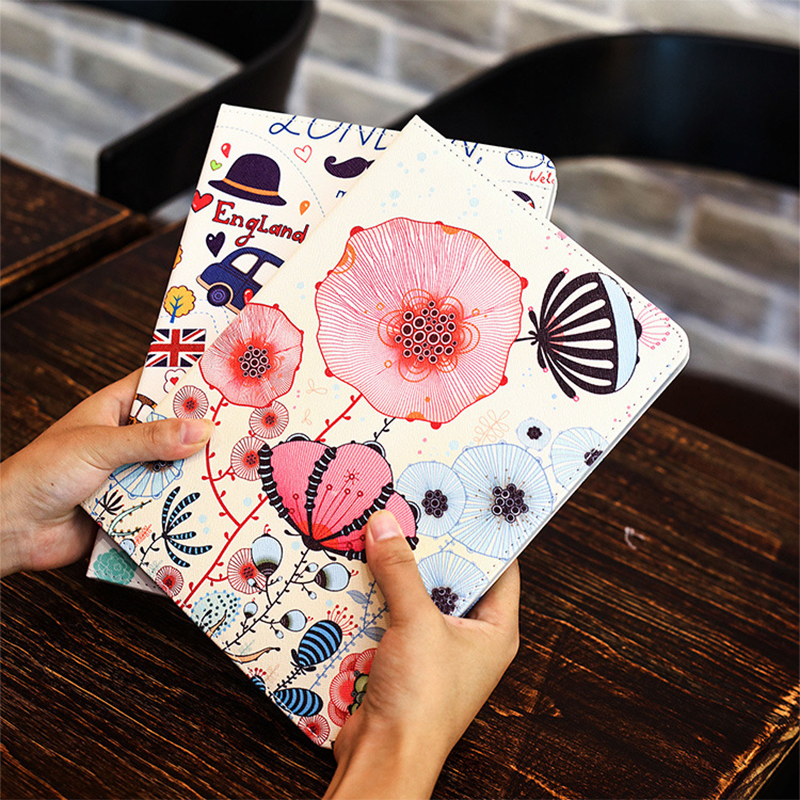 Essidi Fashion Case For ipad 2 3 4 5 6 Printing Leather Tablet PC Cover Sleeve For ipad 2 3 4 5 6th Generation Protect Housing