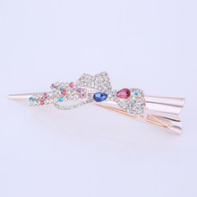 Stunning Metal Filigree and Crystal Diamante Ibis Type Barrette Hair Clip for Women Hair Accessories Hot Sale 2021