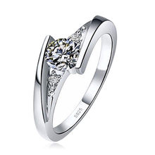 Cute Female Small Zircon Stone Ring 925 Silver Wedding Jewelry Promise Engagement Rings For Women 2019 Valentine's Day Gifts(China)