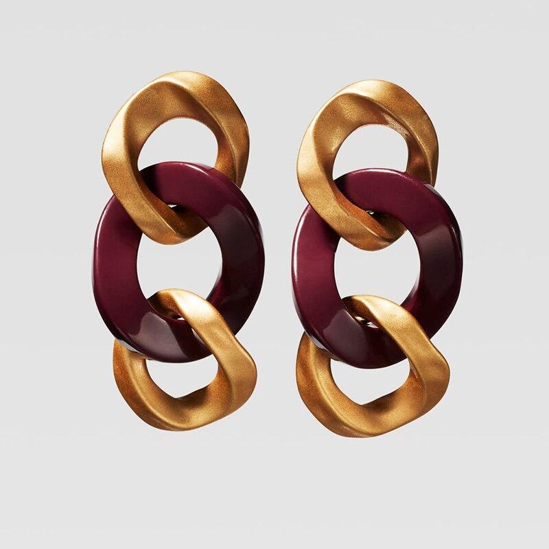 Dvacaman ZA, золотое ожерелье на цепочке, Чокеры для женщин, металлическое круглое звено, массивное ожерелье, s макси панк, модные вечерние ювелирные изделия - Окраска металла: 17