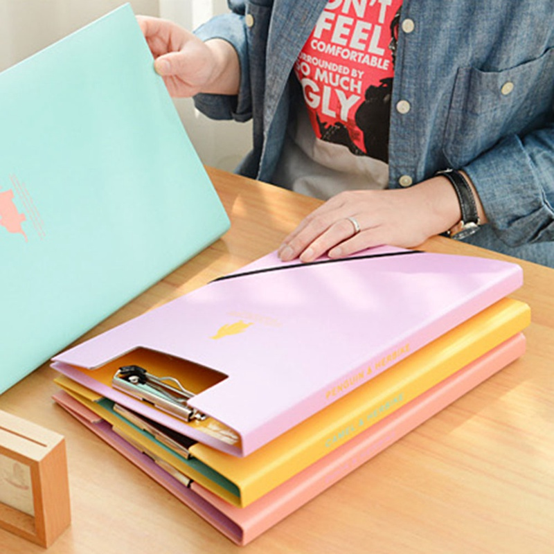Creative A4 Cute Clipboards Lovely Stationery Store Clip Folder Board Desk File Drawing Writing Pad School Office Accessory Tool