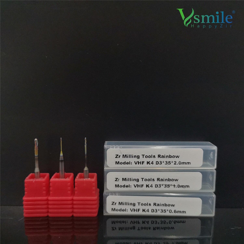 VHF резак Зубные имплантаты диоксида циркония фрезерный боры 35 мм фрезерный инструмент блок для VHF K1 K3 K4 стоматологические CAD CAM фрезерный станок с ЧПУ