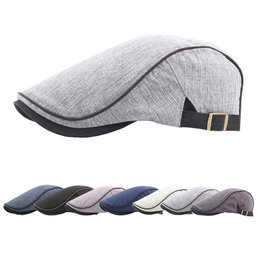 Fashion Men Women Duckbill Baseball Cap Outdoor Sports Adjustable Driving Sun Flat Cabbie Newsboy Hat Unisex Berets Hat Gift