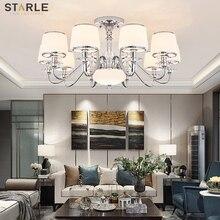 Modern minimalist living room lamp simple European ceiling lamp bedroom dining room lamp crystal light luxury lighting
