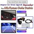 Задний адаптер камеры для Alfa Romeo Giulia Stelvio 2015 ~ 2020 оригинальный автомобильный экран система обновления дисплей парковочный декодер для камеры