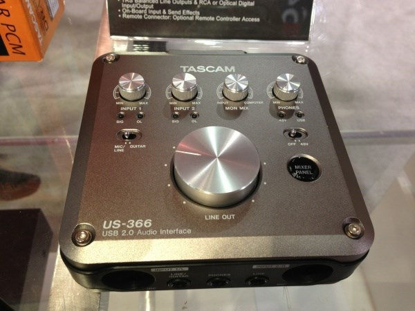 TASCAM US-366 4-In//6-Out or 6-In//4-Out USB Audio Interface