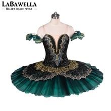 Kadın gözleme balerin tabağı sahne kostüm Tutu BT8941G profesyonel bale tutuş yeşim La Esmeralda yetişkin