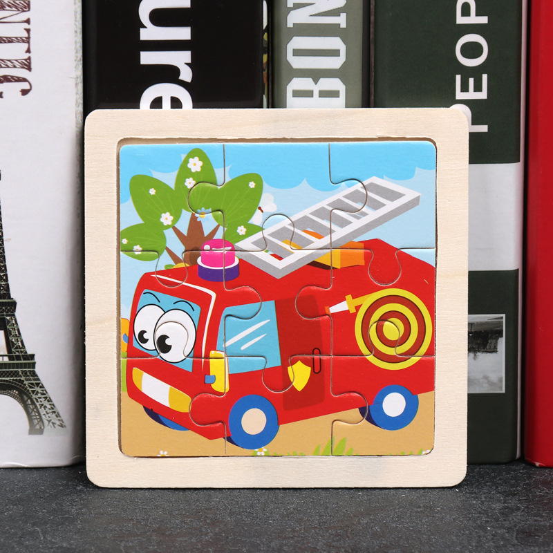Wood Puzzles Children Adults Vehicle Puzzles Wooden Toys Learning Education Environmental Assemble Toy Educational Games 23