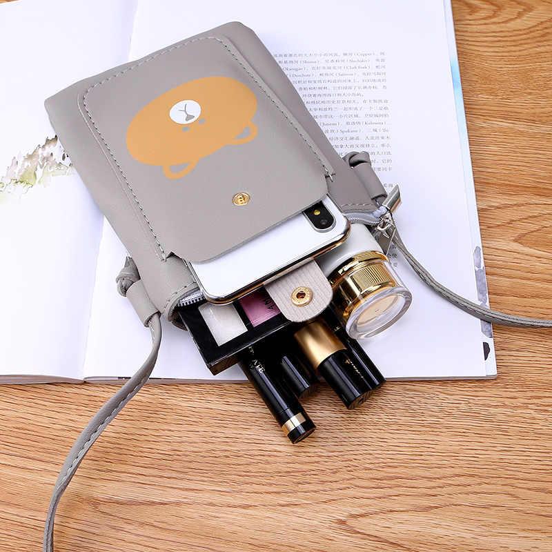 Bolsa de Ombro Bolso de Telefone Celular Carteira De Couro Universal Caso Bolsa de Alça de Pescoço
