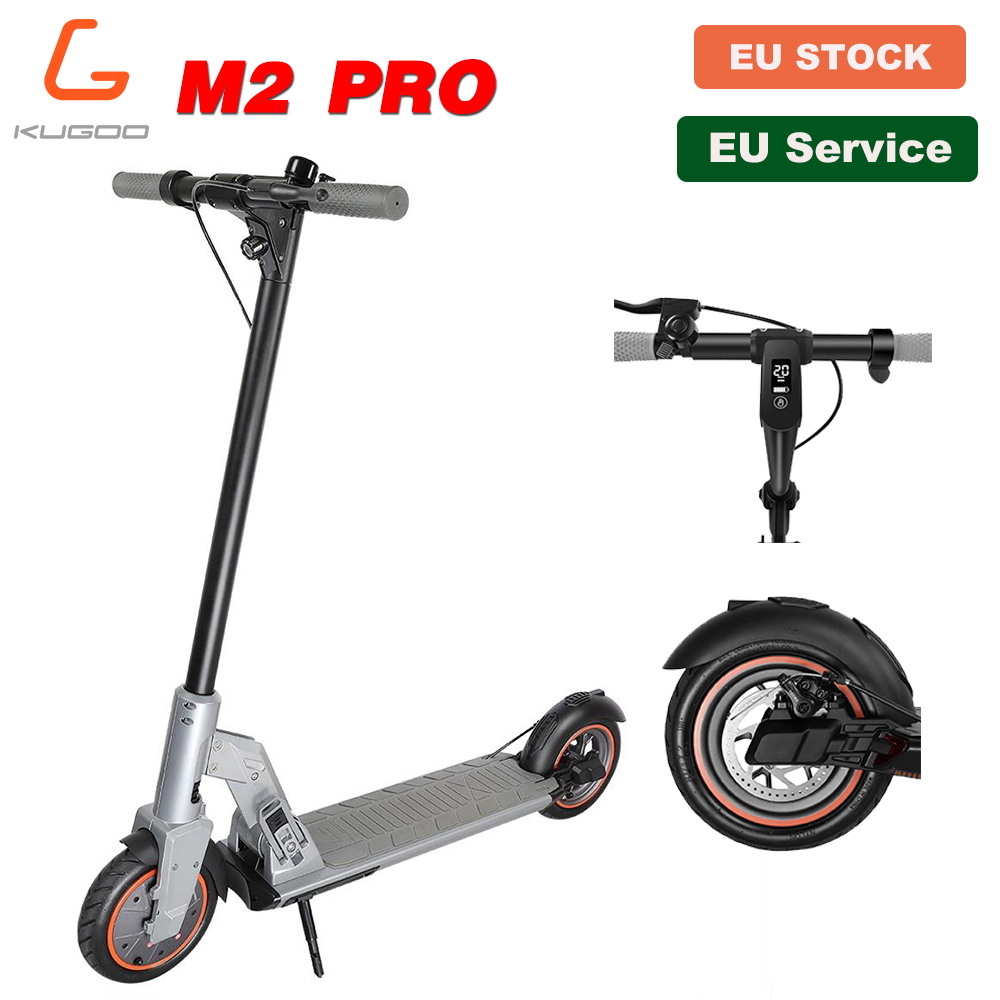 [Official Store] KUGOO M2 PRO Folding Electric Adult Scooter 8.5inches vacuum tire 350W 30KM 25KM/H e Scooter Disc Brake PK M365
