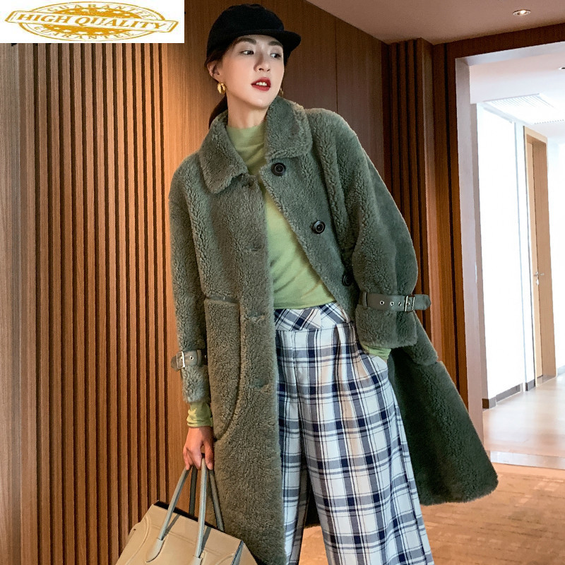 Real Fur Coat Women Clothes 2019 Korean Wool Jacket Winter Coat Women Sheep Shearing Real Fur Jacket Warm Coat CD2019029L YY1846