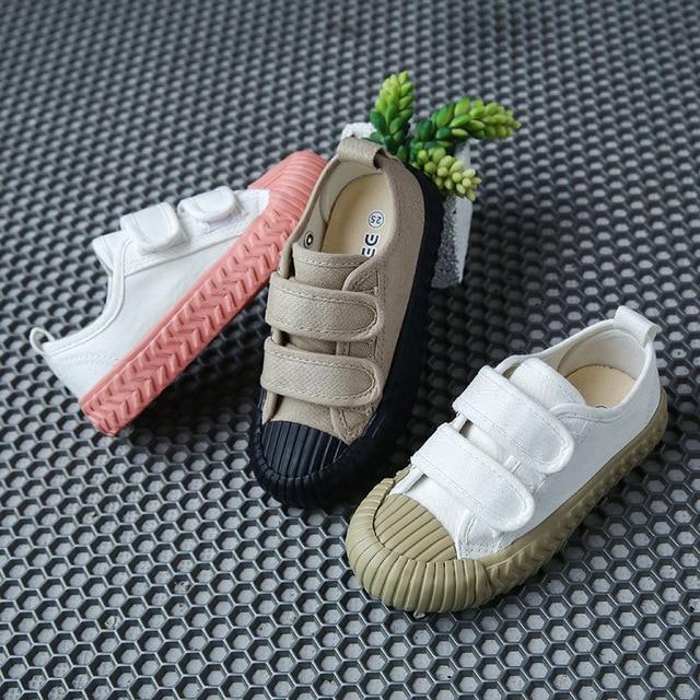 春の秋の子供スニーカーキャンバスシューズ子供のスポーツの靴女の子少年靴