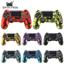 DATA FROG Camouflage Silicone Rubber Gel Skin For Sony PS4 Slim/Pro Controller Cover Protective Case For PS4 Wireless Controller