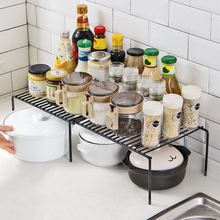 Mini blat kuchenny półki metalowe możliwość układania w stos organizery szafek proste elastyczne w użyciu solidne akcesoria kuchenne