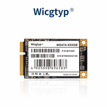 Wicgtyp MSATA SSD SATA III 6 ГБ/сек. SSD жесткий диск 16 ГБ 32 ГБ 64 Гб 128 ГБ 256 512 1 ТБ для Dell M6500 для Asus EP121 для lenovo Y560