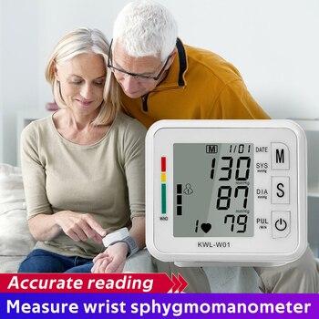 Wrist Blood Pressure Monitors Digital LCD Display BP Meter Household Sphygmomanometers Household Health Tonometer Tensiometer 1