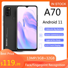 Blackview A70 Smartphone Android 11 6.517 Inch Display Octa Core 3Gb Ram + 32Gb Rom 5380mAh13MP Achteruitrijcamera 4G Mobiele Telefoon