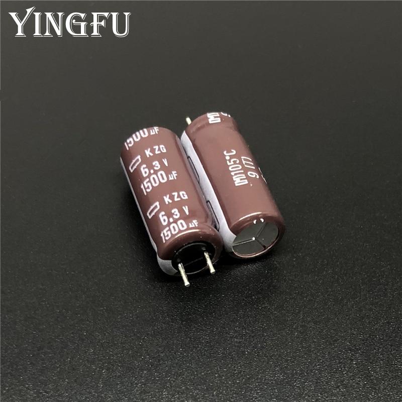 20Pcs/Lot 1500uF 6.3V NCC KZG Series 8x20mm Super Low ESR 6.3V1500uF Aluminum Electrolytic Capacitor