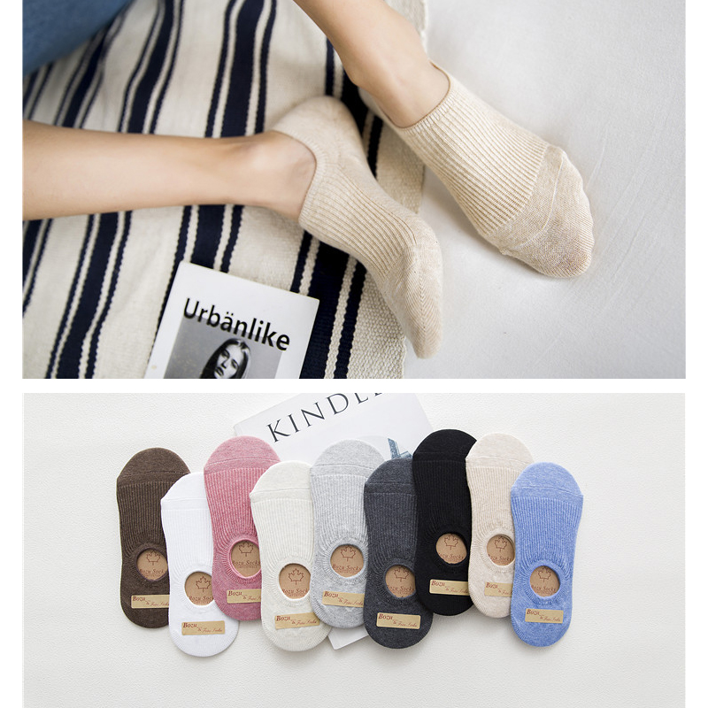 4 Pair/set Summer Invisible Short Socks Low Cut Boat Socks Silicone Non-slip Ankle Socks Slipper Socks For Women Lady Wholesale