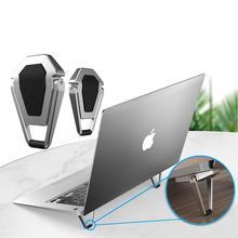 Có Thể Gấp Lại Được Làm Mát Laptop Đứng Nhẹ Xách Tay Giá Đỡ Bọc Chống Trượt Gấp Máy Tính Bảng Giá Đỡ Thích Hợp Cho MacBook