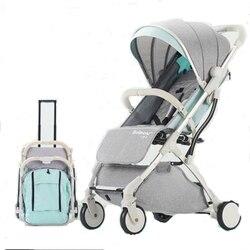 Cochecito de bebé plegable ligero TIANRUI puede sentarse Puede tumbarse en la plataforma 2 en 1 cochecito de bebé silla de paseo
