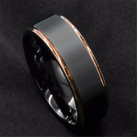 Trendy black gold ring single men's accessories party holiday banquet gift jewelry entertainment accessories wholesale