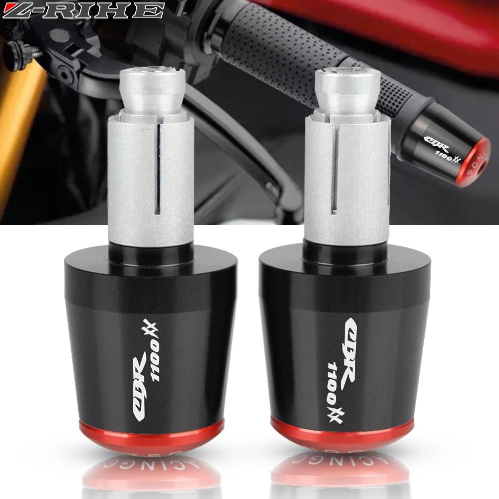 "Universal 7//8/"" 22mm Hand Grips W// Bar End Handlebar For Honda CBR125R 600F2 F4i"