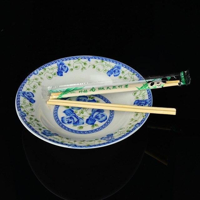 100 пар одноразовые палочки для еды бамбуковые деревянные палочки китайские столовые приборы для ресторана