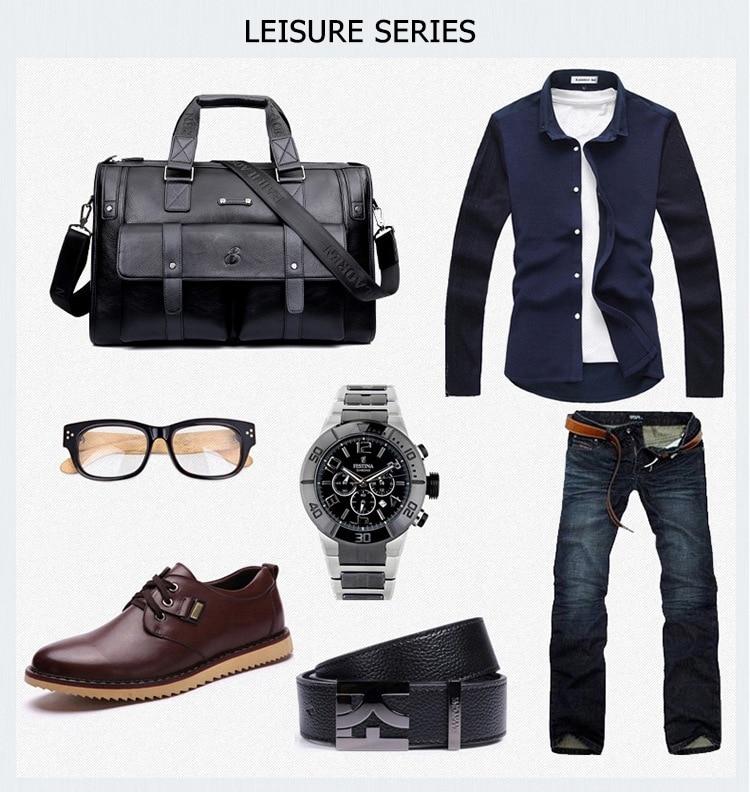 H6ffe75e13e4346d4916513c0f7e1439c6 Men Leather Black Briefcase Business Handbag Messenger Bags Male Vintage Shoulder Bag Men's Large Laptop Travel Bags Hot XA177ZC
