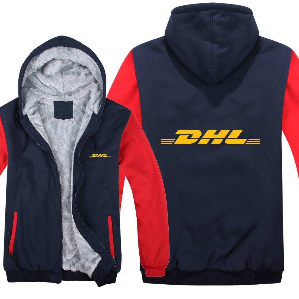 Winter DHL Hoodies Men Fashion Coat Pullover Wool Liner Jacket DHL Sweatshirts Hoody HS-058