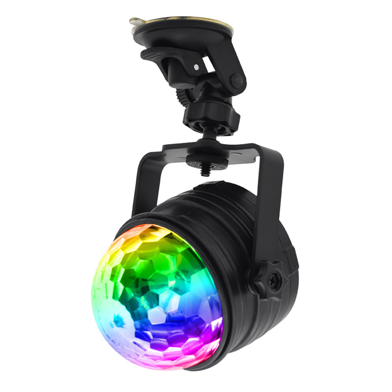 USB Stage Light Car LED Disco Ball Party Colorful Rotating Night Lamp For DJ Pub Party Disco Projector (Remote + 15FT USB Cable)