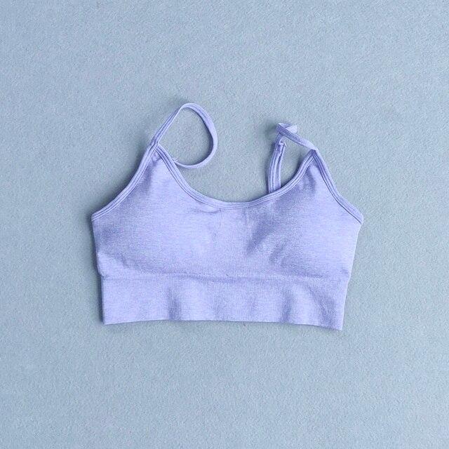 2 Pieces Women Yoga Set Fitness Workout Suit Sportswear Padded Sports Bra High Waist Yoga Pants Gym Tights Seamless Leggings
