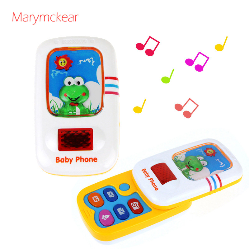 Toy Phone Kids Phone With Sound Button Sing Musical Toy Phone For Children In 2 Colors Baby Toy Slide Baby Mobile Phones
