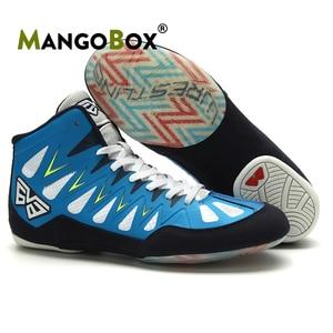 Zapatillas de lucha para hombre y mujer, gran oferta, de diseñador de marca, de boxeo, antideslizantes