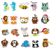 50Pcs Cute Cartoon Animals Stickers PVC Waterproof for Car Girl Laptop Pegatinas Skateboard Suitcase Classic Decal Toys Stickers