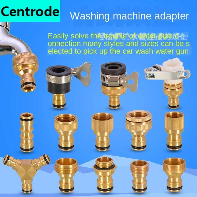 washing machine kitchen basin faucet connector water pipe car wash water hose transfer interface mouth nipple accessories