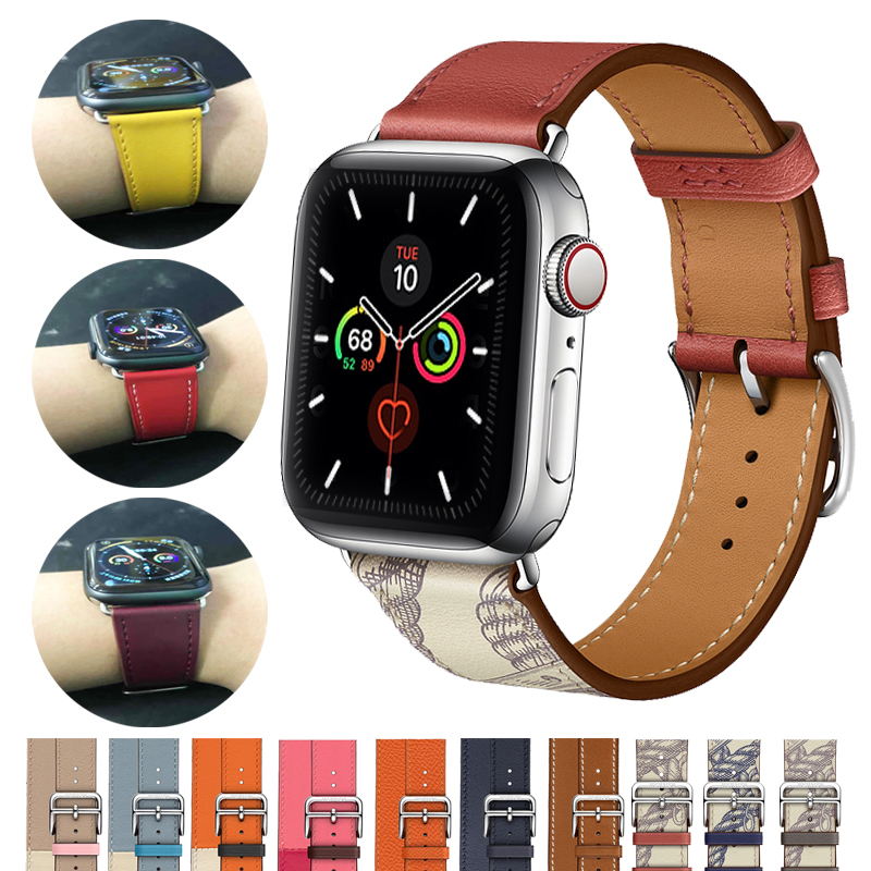 Leather Strap For Apple Watch Band 4 5 3 44mm 40mm Watchband Single Tour Correa 42mm 38mm Bracelet Iwatch Band Accessories