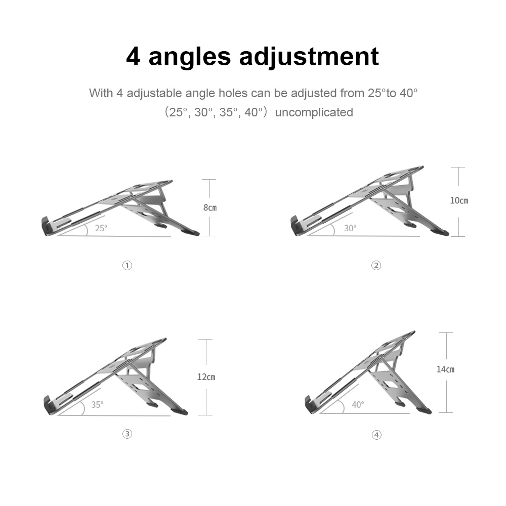 Parblo PR110 Adjustable Graphics Tablet Stand with Metal Appearance Suitable for Pen Display iPad and Laptop