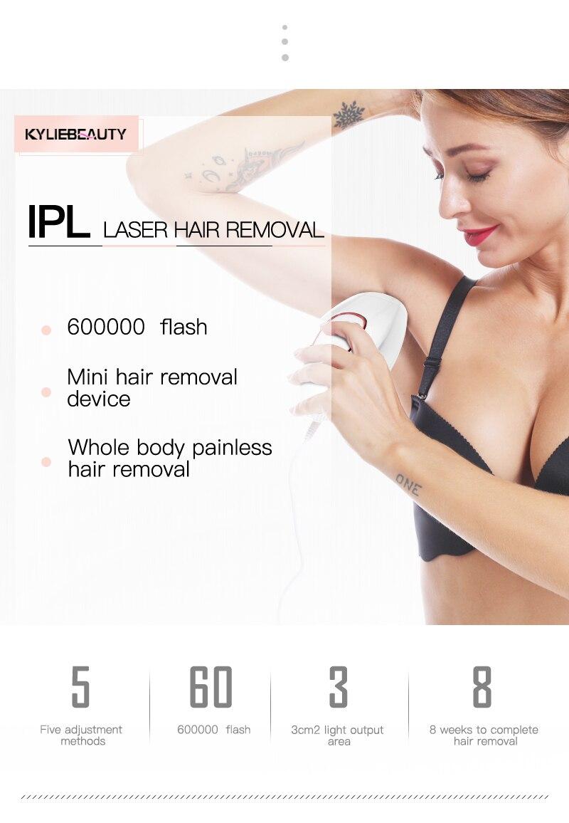 500000 tiros luz pulsos removedor de cabelo do corpo inteiro