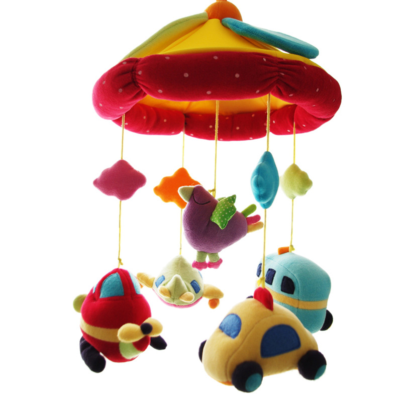 Bell Music Plush Rattle CHILDREN'S Crib Bed Hanging Car Hanging Rotating Have Pacify China