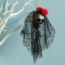 Halloween Scary Creepy Hanging Skull Skeleton Ghost for Bar Garden Yard Home Decor Haunted House Props Party Supplies
