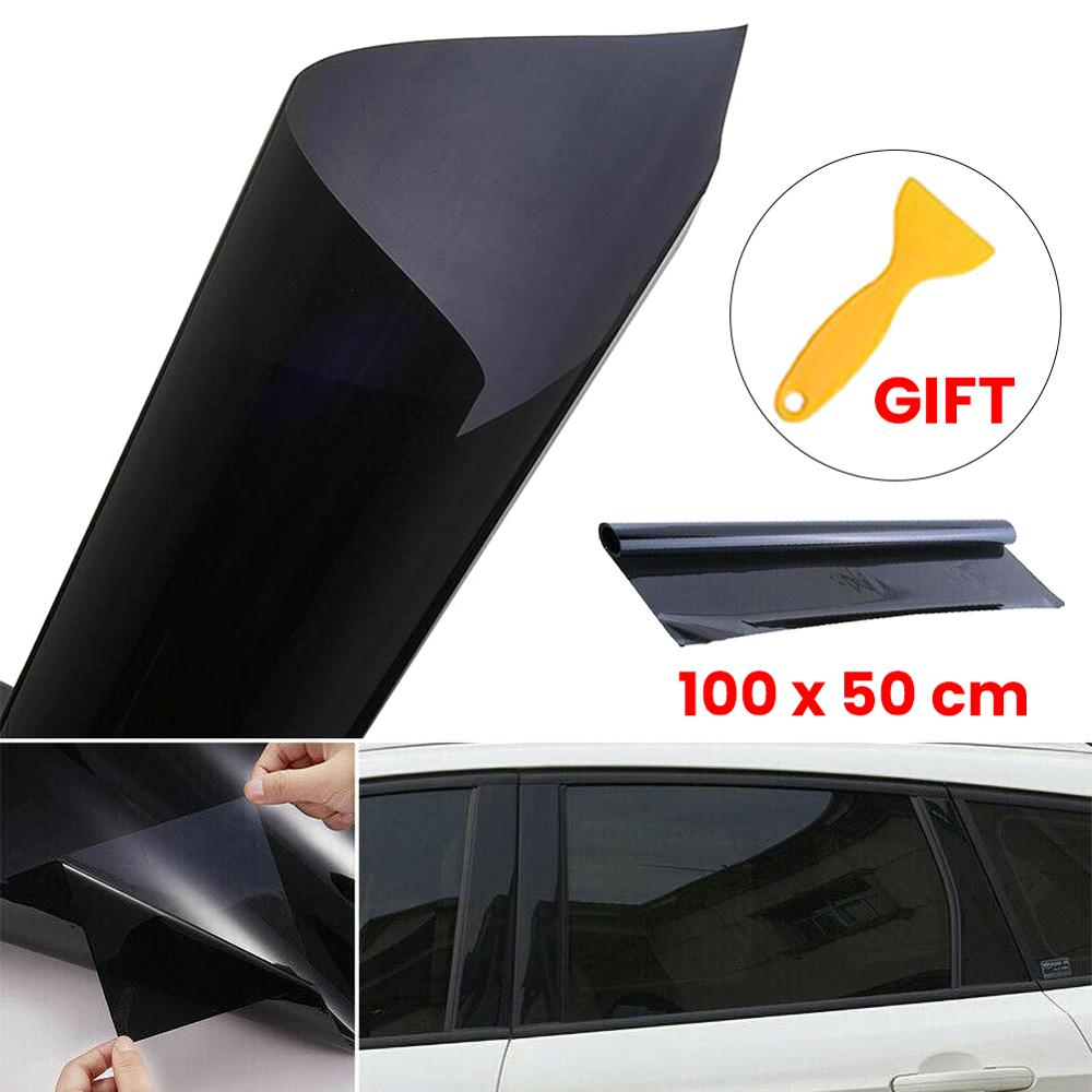 beler 50cm x 6m 35/% Window Tint Film Roll Tinting Cover for Auto Car Home Office Glass Black Color