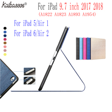 Tablet case for iPad Air 1 2 9.7 inches smart sleep PU case for new iPad 9.7 inch 2017 2018 A1822 A1823 A1893 A1954