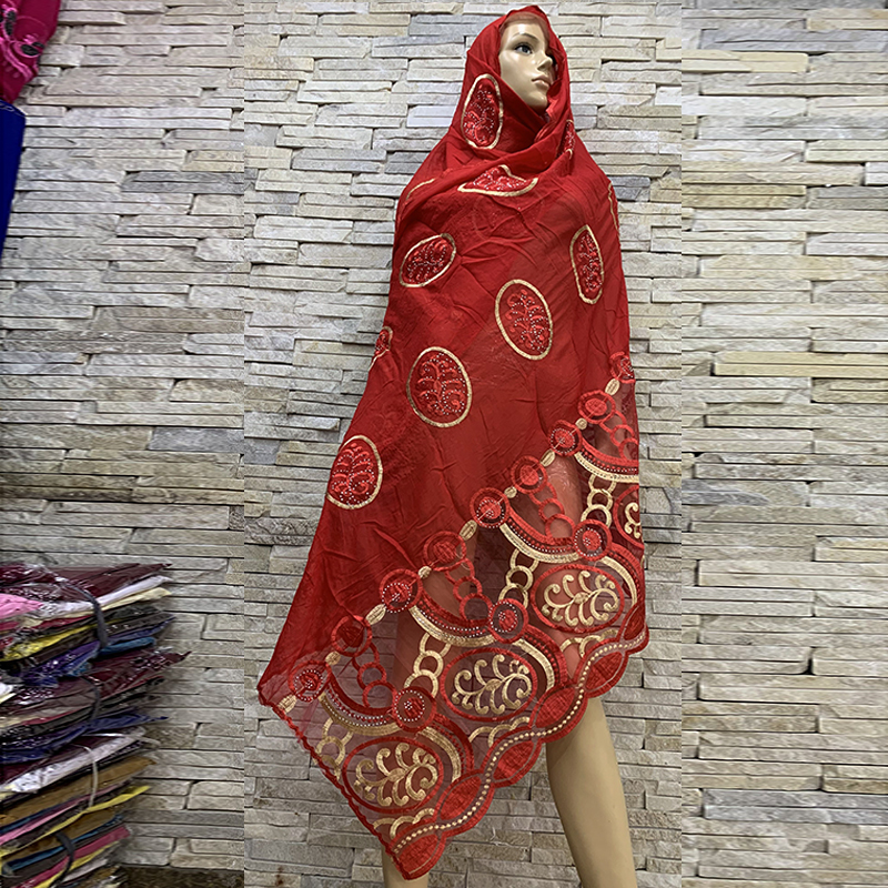 12 Pieces For Sales ! Soft Cotton Scarf Pitch With Net ,nice African Women Scarf,12 Pieces 1 Lot