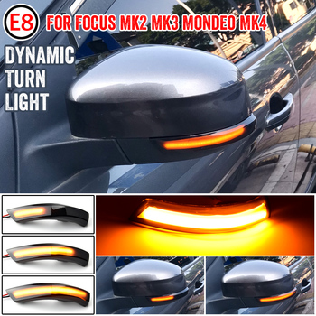 Black Dynamic Turn Signal Light LED Side Rearview Mirror Sequential Indicator Blinker Lamp For Ford Focus 2 3 Mk2 Mk3 Mondeo Mk4