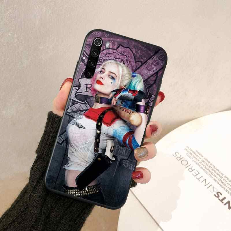Xiaomi Redmi için not 9 9S Max telefon kılıfı Harley Quinn Joker Wink için Xiaomi 8T 8 7 6 5 Pro 5A 4X 4 siyah telefon kapağı