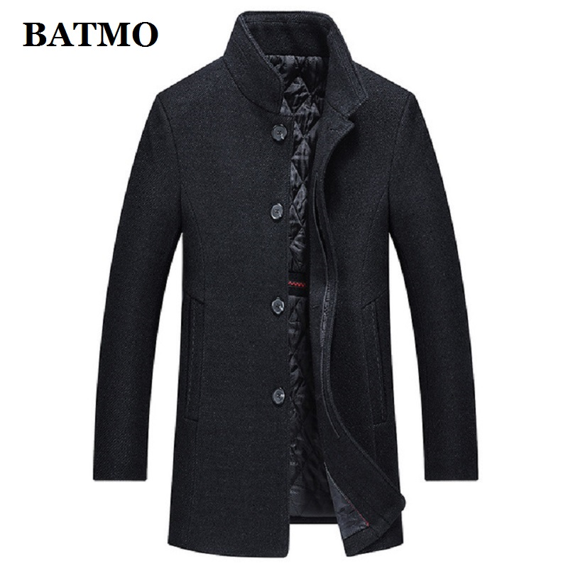 Batmo 2019 new arrival winter high quality wool thicked casual trench coat men,men's winter warm coat,winter jackets men AL51