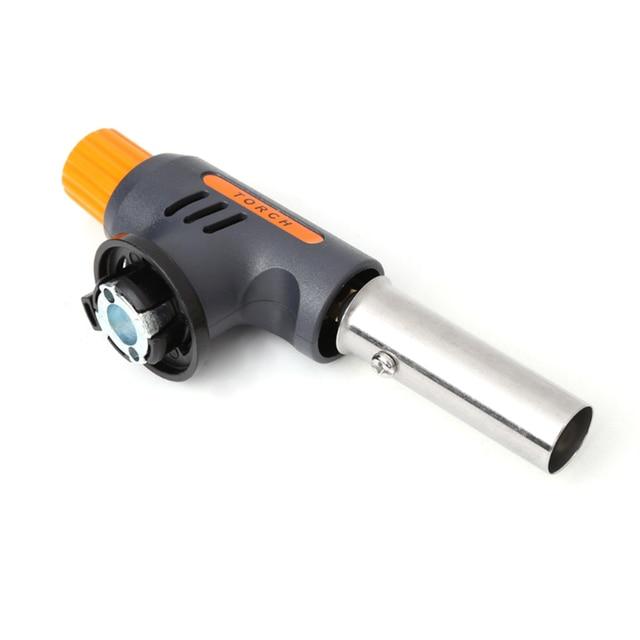 Pro WS-502-c torche à gaz lance-flammes Butane brûleur allumage automatique 1350 degrés BBQ Camping extérieur 140x41x200mm