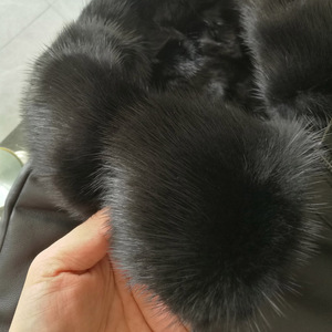 Image 2 - DK Natural Mink Fur Clothing Men Medium Long Winter Warm Leather Genuine Black Slim Sheepskin Leather Jackets