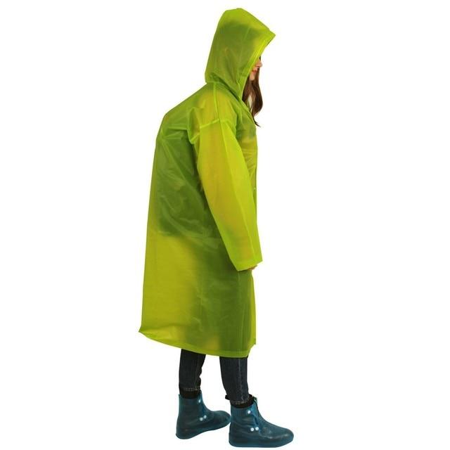 New Reusable protective Blouse Hooded Top Raincoat Prevents Splashing Body Portable rain coat Camping Hoodie Rainwear Suit